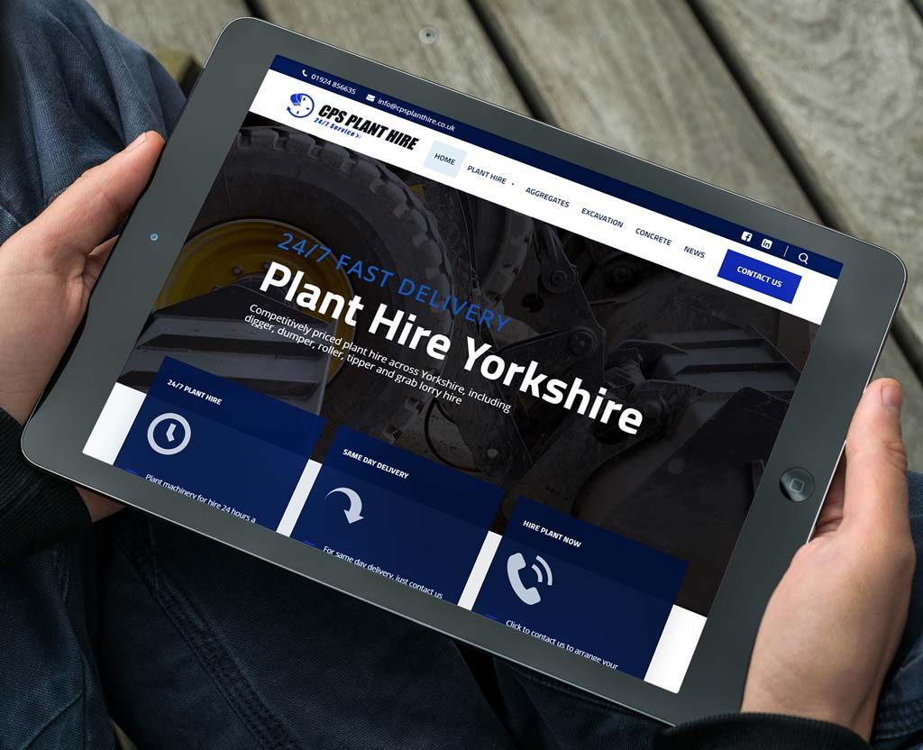 CPS Plant Hire website